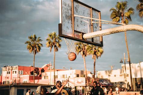 Free picture: basketball court, people, playing, street