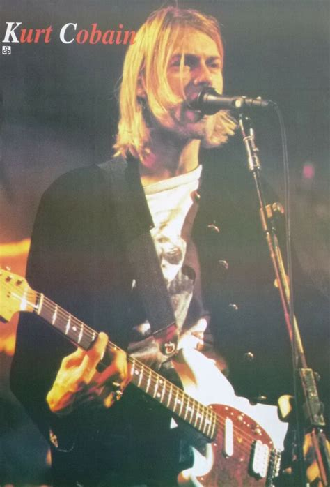"NIRVANA ""KURT COBAIN SINGING & PLAYING GUITAR"" POSTER FROM"