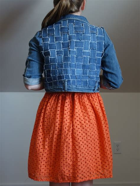 Refashion Co-op: I Refashioned Old Jeans Into A Woven Jean
