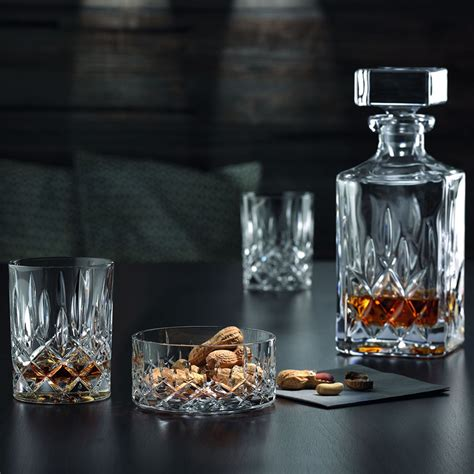 Nachtmann Noblesse Crystal Whisky Decanter & Tumblers Set