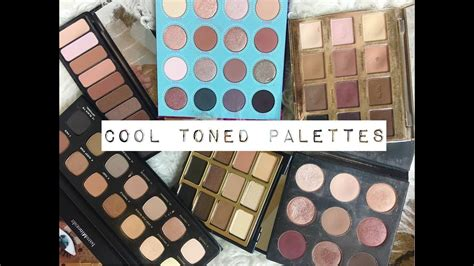 BEST COOL TONED EYESHADOW PALETTES - YouTube