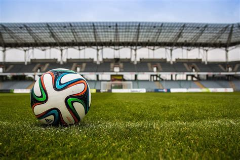 Free picture: ball, football, stadium, grass, ground