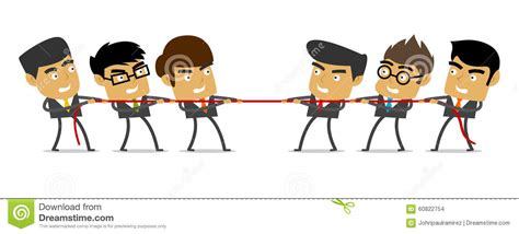 Tug Of War, Business, People, Competition Stock Vector
