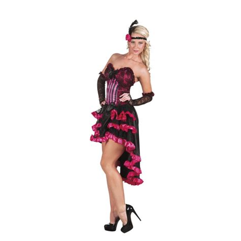Déguisement french cancan femme rose