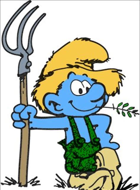 Farmer Smurf | Farmers, Smurfs and Cartoon
