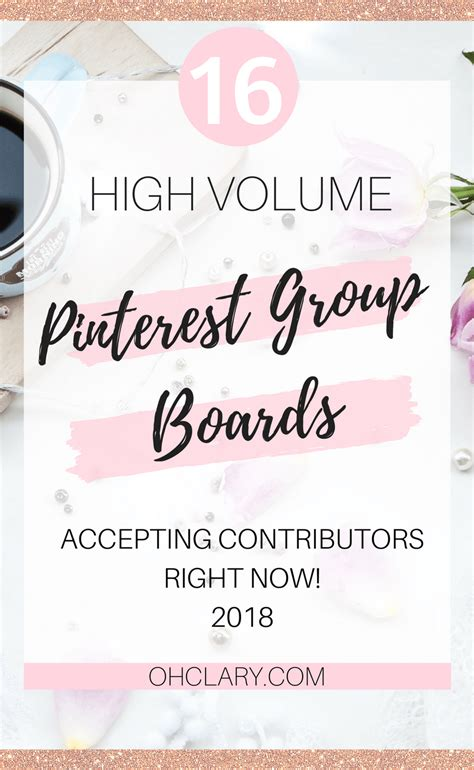 16 High Volume Pinterest Group Boards That Are Accepting