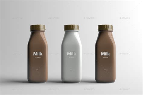 Milk Bottle Packaging Mock-Up by Zeisla | GraphicRiver
