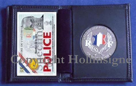 Portefeuille pour insigne Police Nationale - Hollinsigne