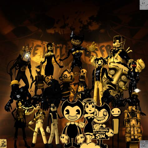 All the characters of Bendy and the ink machine by