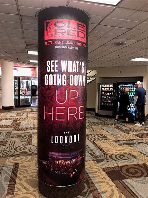 Column Wraps are Perfect for Advertising, Wayfinding