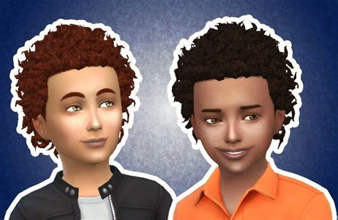 My Stuff: Close Curls for Boys | Toddler hair sims 4, Sims