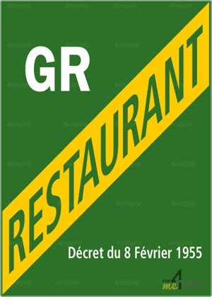 Panneau rectangulaire Licence grand restaurant - 4mepro
