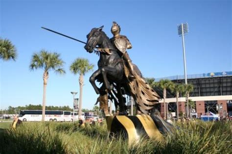 UCF mascot - the Knight - All Gone to Look for America